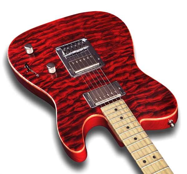 Guitar figured maple top