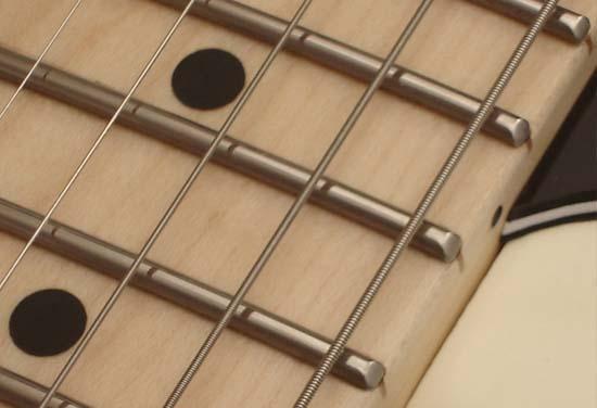Guitar frets sizes